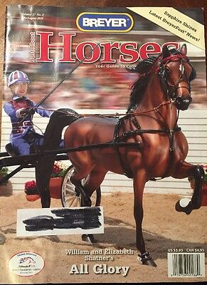 Breyer Just About Horses Magazine JAH 2010  Volume 37 Issue 4 All Glory NSH