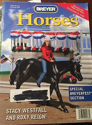 Breyer Just About Horses Magazine JAH 2009 Volume 36 Issue 4 Westfall & Roxy