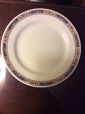 """Scammell's Trenton China Symphony Pattern 9 3/4"""" Dinner Plate"""