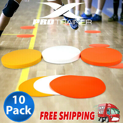 NEW PVC Flat Agility Marker Cones - 10Pack - Choice of 3 Colours