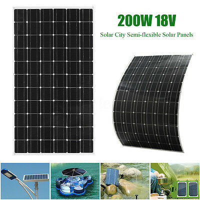 Elfeland 200W 18V Class-A Semi-flexible Solar Panel Battery Charger For RV Boat