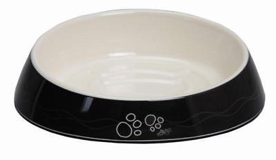Rogz Fishcake Cat Bowl Black Paws
