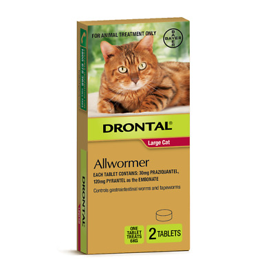 Drontal Cat All Wormer 6 Kg 2 Pack