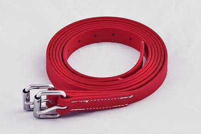 Red Stirrup Leathers