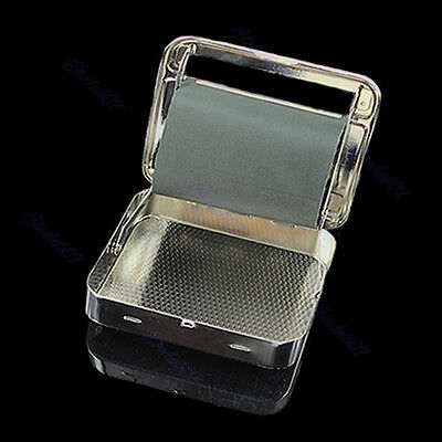 New Metal Cigarette Tobacco Roll Roller Rolling Machine Box Case Cover Gift