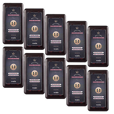 10XWireless Restaurant Call Coaster Pager Receiver for Paging Queuing System NEW