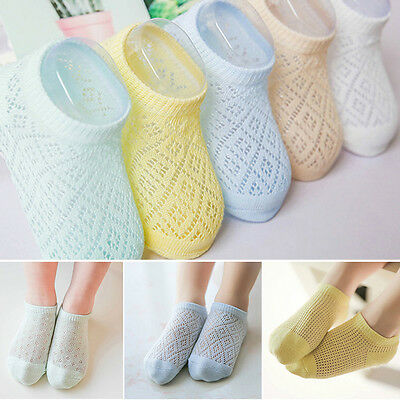 5x Cute Baby Kids Breathable Soft Mesh Cotton Toddler Child Boy Girl Socks 1-12Y