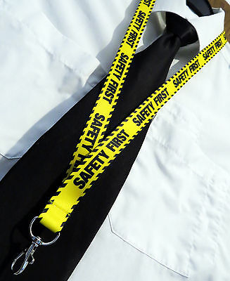 SAFETY FIRST for safe flying and elsewhere keychain neckstrap Lanyard