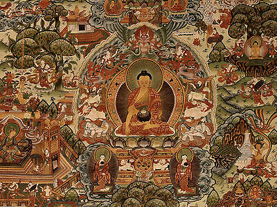 Thangka Tibet Nepal Life of the Buddha