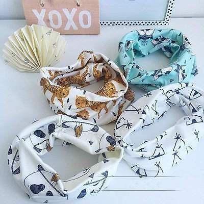 Fashion Baby Kids Boys Girls Warm Printed Scarf  Autumn Collar Neck Scarves Wrap
