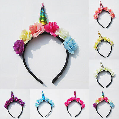 US Stock Magical Unicorn Horn Head Party Kid Hair Headband Fancy Dress Costume