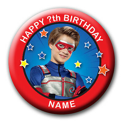 Personalised Henry Danger Birthday Huge Badges/fridge Magnets/mirrors - 58Mm