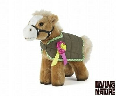 Cuddly Horse with rug and rosette ( plush pony gift equestrian Living Nature )