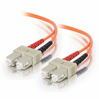 Cables to Go 2m SC/SC LSZH Duplex 62.5/125 Multimode Fibre Patch Cable - Orange
