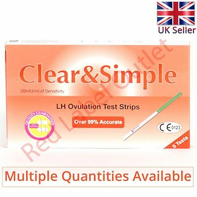 Clear & Simple Ovulation LH Hormone Surge Fertility Test Kit