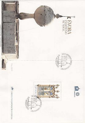 86.435/ Portugal Block FDC  1988 Brunnen