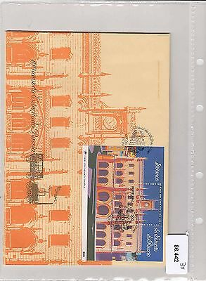 86.442/ Portugal Block FDC  1990 Burg