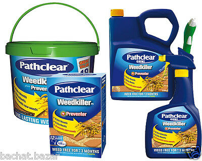 Weedol Pathclear Weedkiller + Preventer Tubes & Gun Kills Weeds and Roots