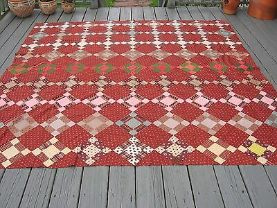 Civil War Era ~ Hand Pieced Quilt Top ~ A Beauty ~