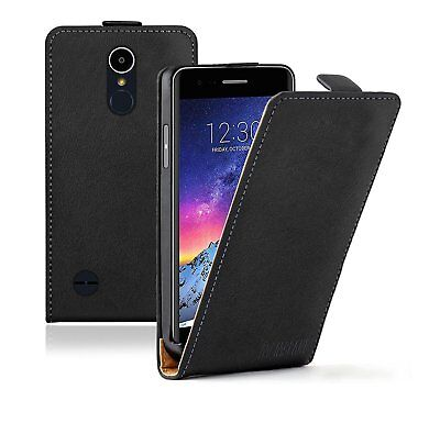 SLIM BLACK LG K8 2017 Leather Flip Case Cover  For Mobile Phone