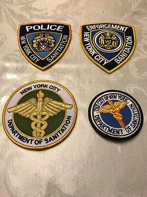 NY Sanitation Patch Lot - Set Of 4 Patches