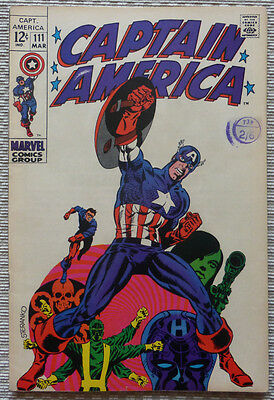 Captain America #111 - Classic Marvel Silver-Age With Great Cover!!!