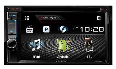 """Kenwood DDX393 6.2"""" In Dash Double Din CD DVD Receiver w/ Built in Bluetooth B"""