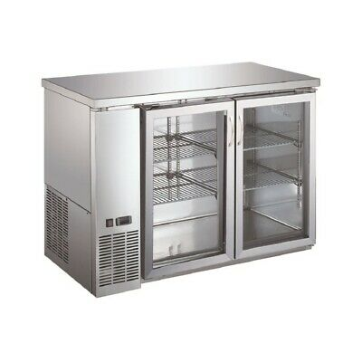 UBB-24-48GSS Glass Back Bar Cooler ( Free Shipping )