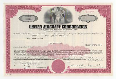 United Aircraft Corporation Bond