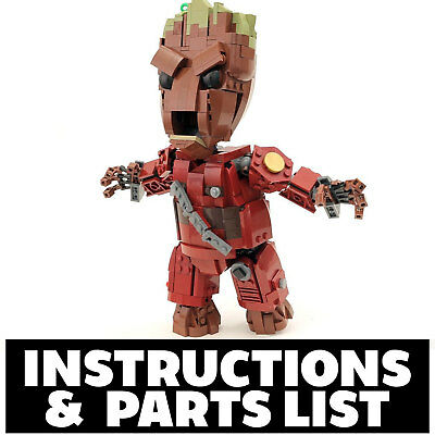 Custom LEGO Guardians of Galaxy Baby Groot Instructions PDF