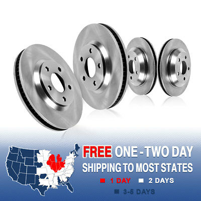 Front and Rear OE Brake Disc Rotors Kit LEXUS GS350 RWD GS430 GS450h GS460 IS350