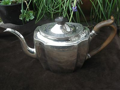 1800 beautiful Georgain  bright cut decorated teapot by Smith and Hayter