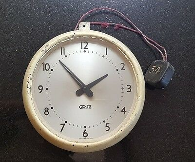 Gent of Leicester Electric School Wall Clock