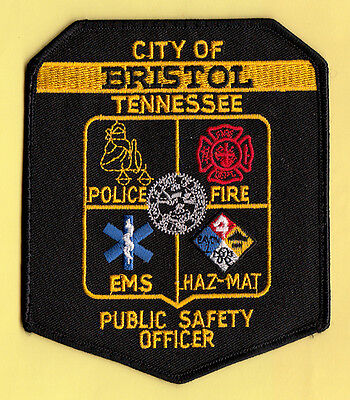 L21 * Obsolete Bristol Tennessee Dps Hazmat Police Patch Fbi Dea Atf Fire Ems