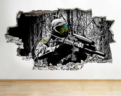 R336 Off Road Quad Bikes Cool Fun Smashed Wall Decal 3D Art Stickers Vinyl Room
