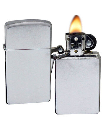 Zippo 1607 Slim Street Chrome Sealed Windproof Pocket Lighter NEW