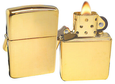 Zippo Lighter 169 Armor High Polish Brass Windproof NEW
