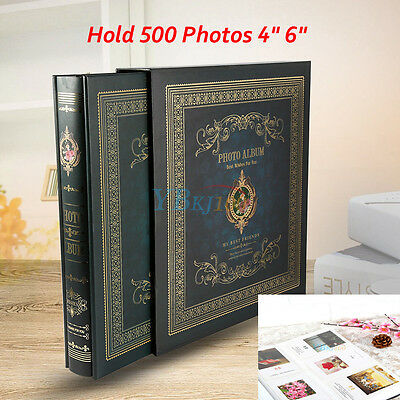 "Memo Slip in Photo Album Storage 500 Photos 4"" 6"" Memories Organiser Dark Green"