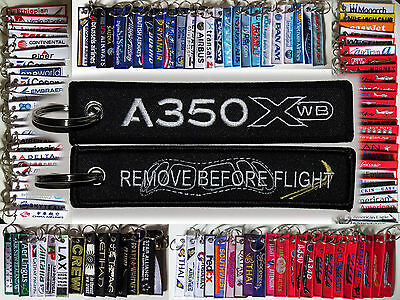 Keyring AIRBUS A350 XWB in BLACK Remove Before Flight keychain for pilot crew