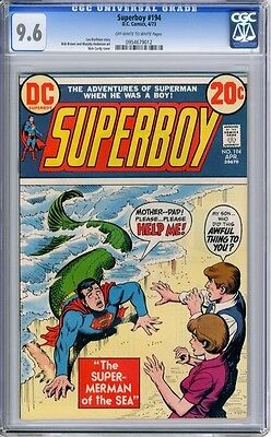 Superboy   #194   CGC   9.6   NM+    off - white to white pages