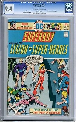 Superboy   #212   CGC   9.4   NM    off - white to white pages