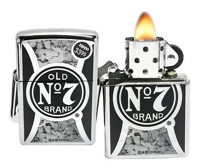 Zippo 29233 Jack Daniel's High Polish Chrome Fusion Windproof Pocket Lighter New