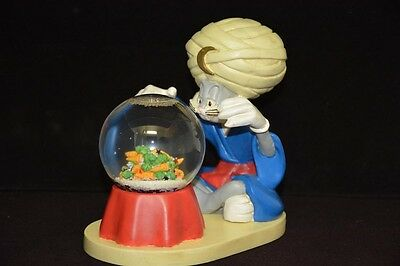 """Warner Brothers Store Exclusive - Bugs Bunny Swami Snow Globe - 7"""" high - 1995"""