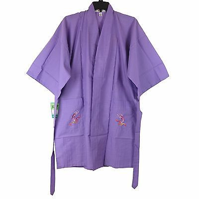 Traditional Chinese Women's Embroidered Peacock Robe Top in Purple M New