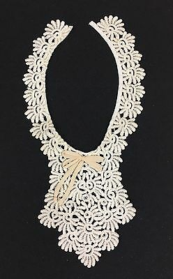 A8 Vintage Chemical Lace Collar Salvage For Sewing Projects Crafts DIY