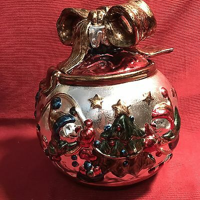 Christmas Bulb With Snowmen Cookie Jar By Jcpenny Collection