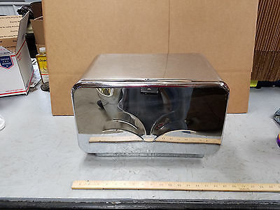 Vintage Masterware Bread Box Breadette Chrome Stainless Steel Collectible