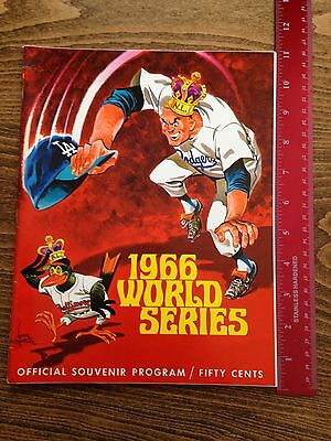 1966 World Series Baseball Program Dodgers vs. Baltimore