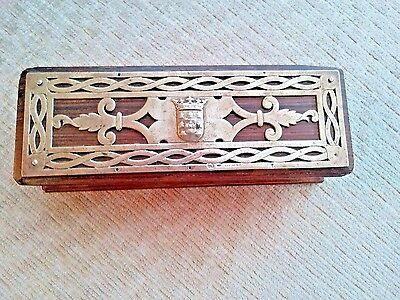Antique Sterling Silver Rosewood Box Hallmarked Portugese Silver (900-1000)