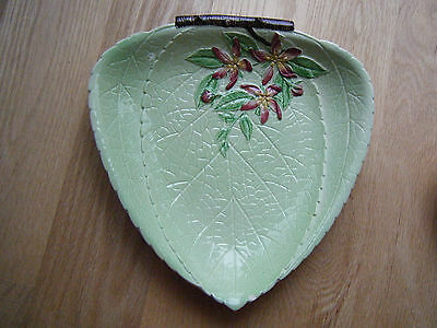 Carlton Ware Tray Plate Green Leaf Apple Blossom Australian Design England